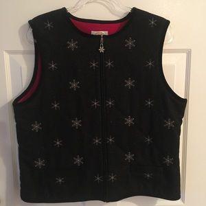 Talbots Snowflake Wool Vest
